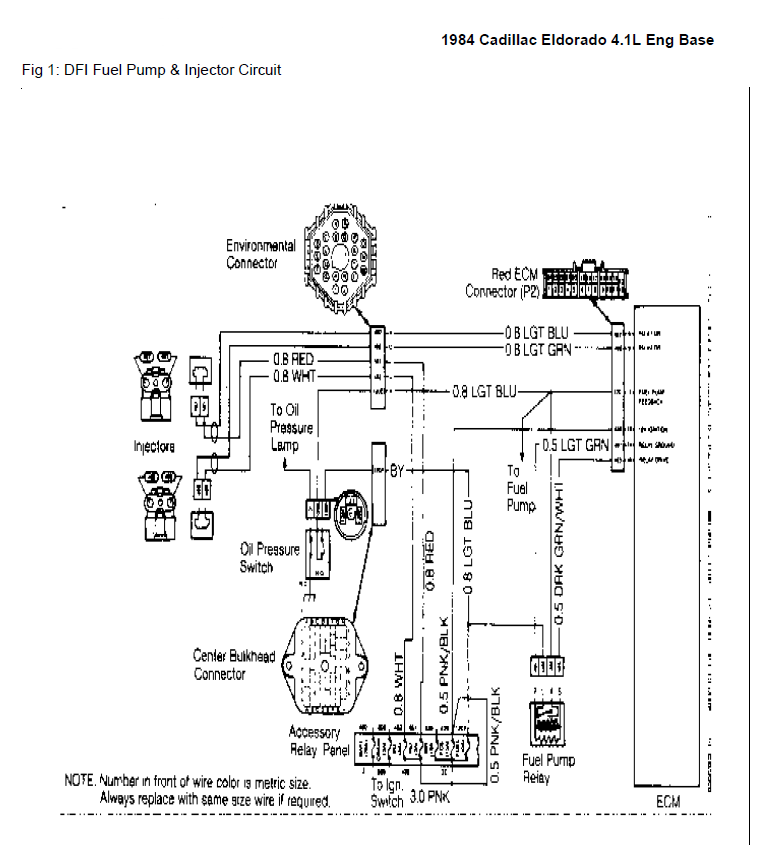 Fuel Pump And Injector Circuit Eldorado