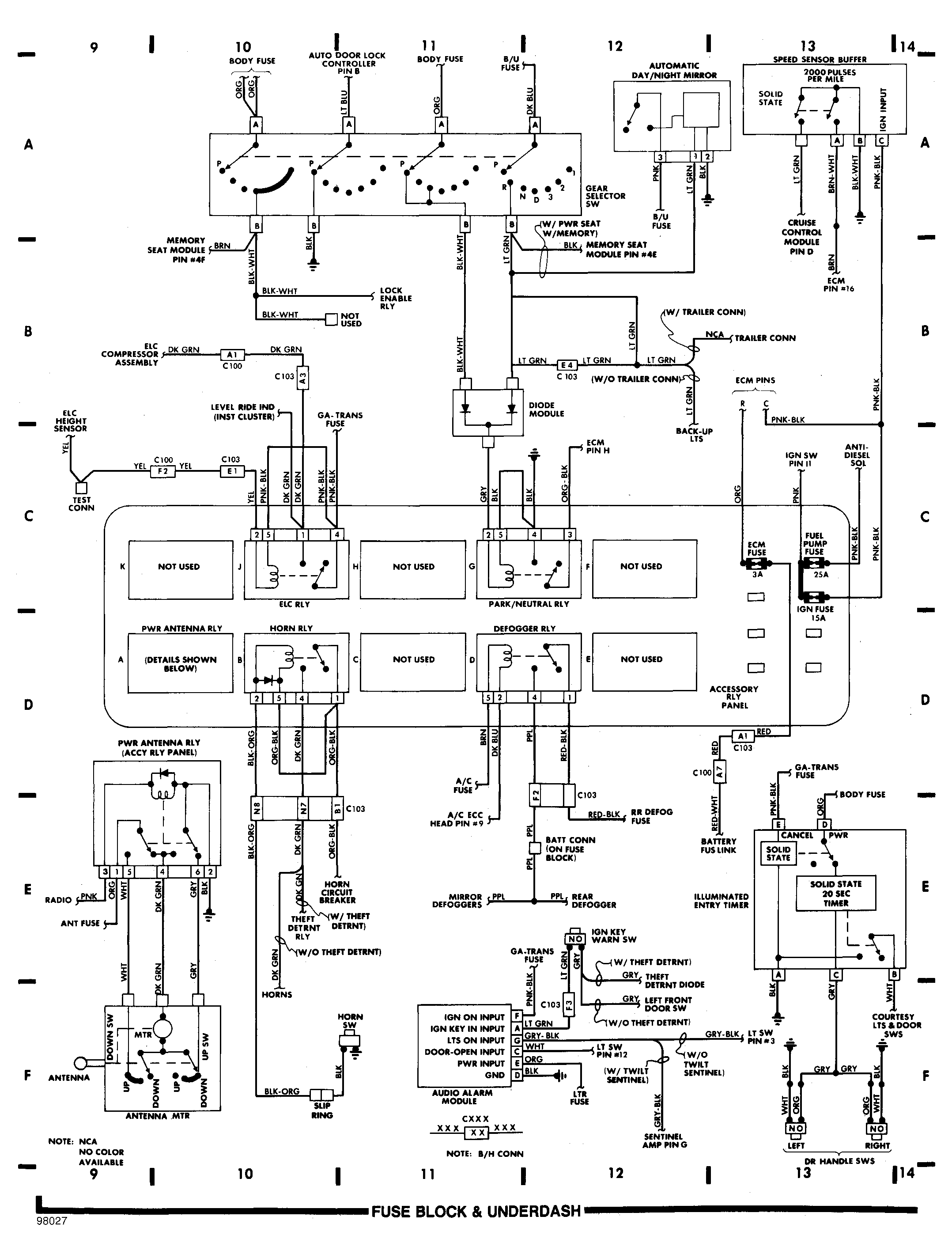 Wiring Diagrams 1990 Cadillac Brougham Fuse Box Diagram Block And Underdash